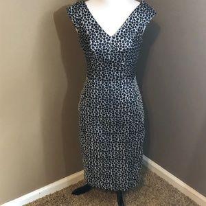 Yoanna Baraschi Blue Dress Size 4 Lined Geometric